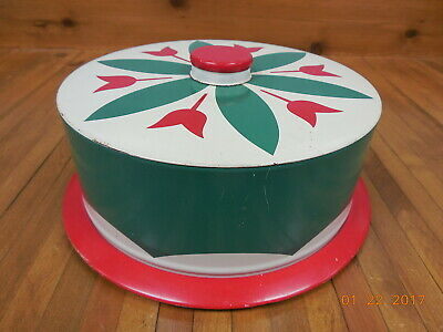 "Old Vintage 9"" Metal Cake Saver  #"