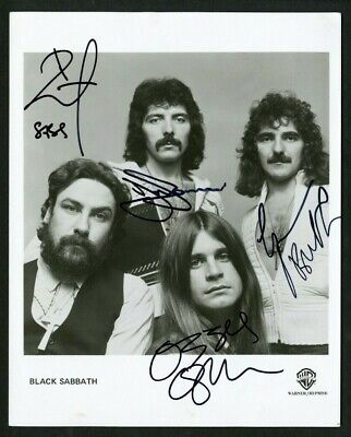 BLACK SABBATH OZZY IOMMI BUTLER WARD Signed (4) Autographed Photo PSA DNA - WOW!