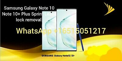 Sprint Lease Lock Removal Note 10 Note 10+ Plus Lease pin