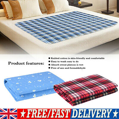 Waterproof Bed Pads Washable PE Incontinence Sheets Seat Protection Mattress UK