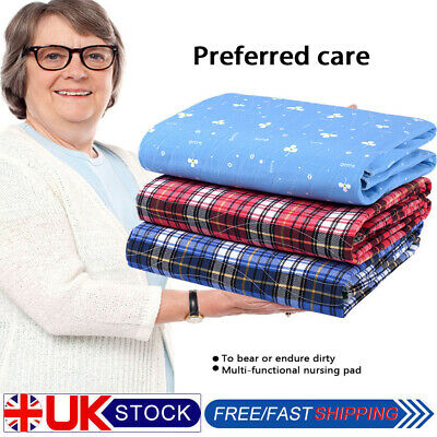 New Washable Waterproof Incontinence Bed Sheets Seat Pads Protection Mattress UK