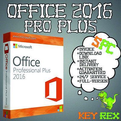 Office 2016 Pro Plus, Professional 1-5PC ✔ Vollversion  ✔32&64 Bits ✔ per Email