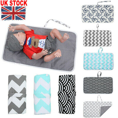 Newborn Baby Portable Foldable Washable Travel Nappy Diaper Play Changing Mat UK