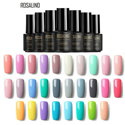 ROSALIND Classic Gel Nail Polish 7ML Nail Art Pure Color Semi-permanent Xmas