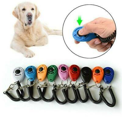 Dog Training Clicker Click Button Trainer Pet Cat Puppy Obedience Aid Wrist Toys
