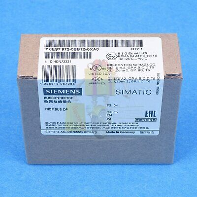 Brand new Siemens Profibus Bus Connector 6ES7972-0BB12-0XA0 6ES7 972-0BB12-0XA0