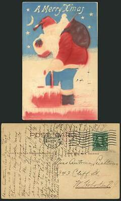 Father Christmas SANTA CLAUS Embossed 1907 Old Postcard