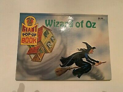 1990 Wizard Of Oz Giant Pop Up Book Honey Bear Books Hardcover