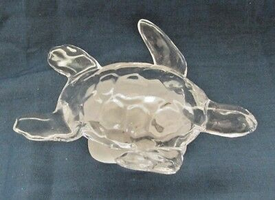 Atlantis Crystal Glass Turtle  Figurine Paperweight Satin Base