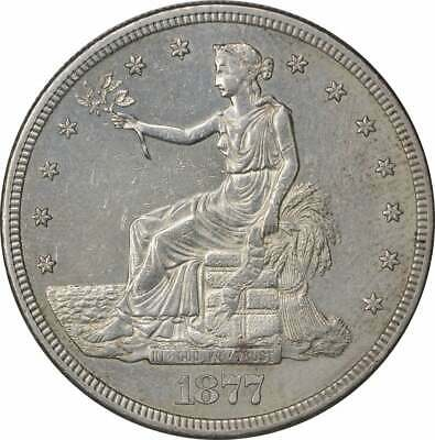 1877-S Trade Silver Dollar AU Uncertified
