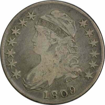 1809 Bust Half Dollar, VG, Uncertified