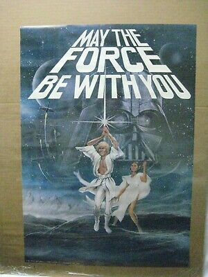 May The Force Be With You Star Wars Movie Vintage Poster Garage 1977 Cng899