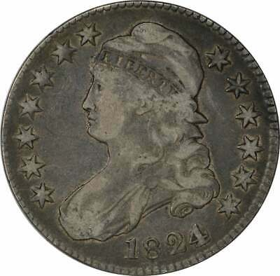 1824/Various Date Bust Half Dollar, Choice F, Uncertified