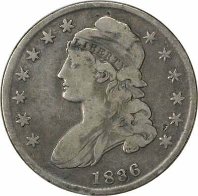1836 Bust Half Dollar, Lettered Edge, F, Uncertified