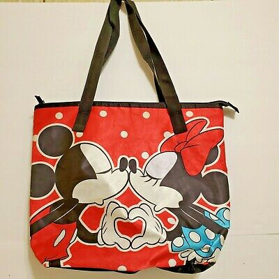 Disney Parks Mickey and Minnie Mouse Kissing Tote Bag