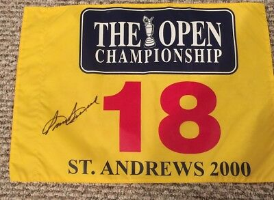 Sam Snead Signed 2000 British Open St Andrews Pin Flag In Person Autograph