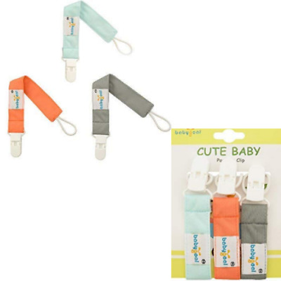 Pacifier Clip for Boys,2 Packs of 3 by Milanti 20 Name Tags Labels Premium