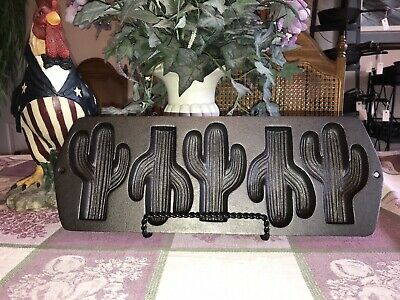 Restored Lodge Cast Iron Cactus Pan 5CP2, Well Seasoned, Discontinued Item