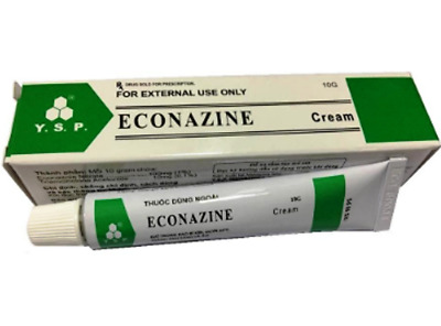 5 X ECONAZINE Cream for Skin Allergies, Fungal Infection, Ringworm 20g SK