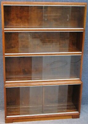 Minty Oxford Mahogany 4 Tier Stacking Sectional Bookcase Cabinet