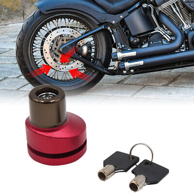 Red Brown Motorcycle Scooter Anti-thief Safety Security Disc Lock System w 2 Key