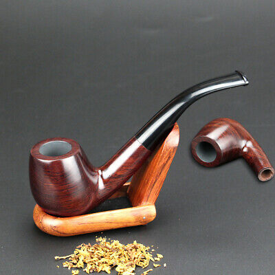 Durable Tobacco Smoking Smoke Wooden Pipe Classic Natural Solid Wood Handmade
