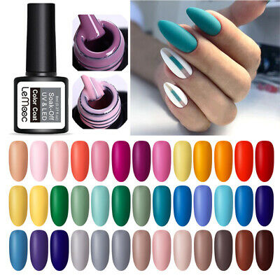 LEMOOC 8ml  Matte UV Gel Polish Colorful Soak Off Gel Varnish Nail Art Decor