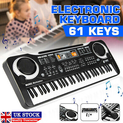 61 Keys Electronic Music Keyboard Organ Piano Set With Mini Microphone Kids Gift