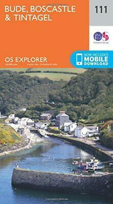 OS Explorer Map (111) Bude, Boscastle and Tintagel by Ordnance Survey, NEW Book,