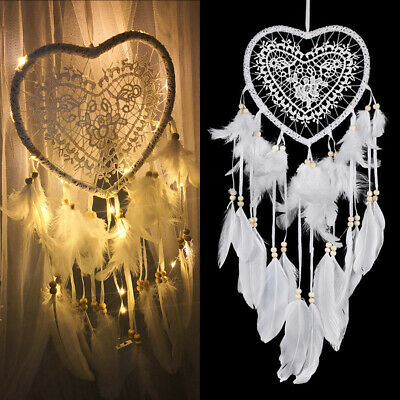 Creative Hollow Heart Dream Catcher Nordic Wedding Home Decor Ornament Pendant