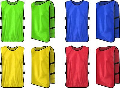 Football Bibs Mesh Kid Youth Adult training sports Vests Rugby Hockey Cricket