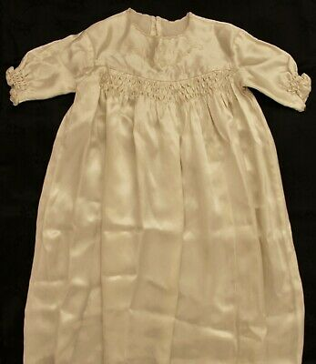 Beautiful Antique Satin Type Baby's Christening Gown Baptism Gown