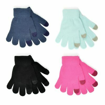 2 Pack Boys Girls Childrens Touch Screen Magic Gloves GL095 Assorted Colours