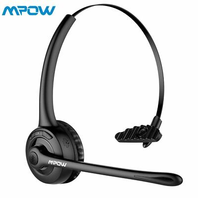 Bluetooth Headset Over the Head Headphone for Car Truck Driver Telephone w/ MIC
