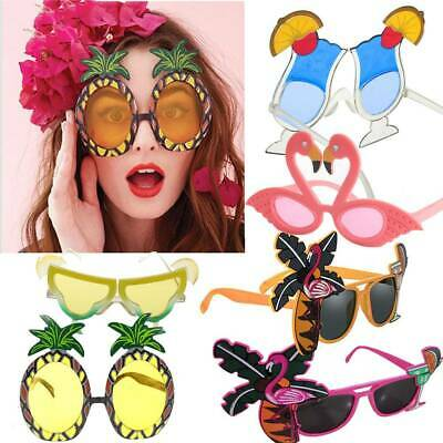 Hawaii Tropical Sunglasses Flamingo Pineapple Sun Glasses Hawaiian Party Decor