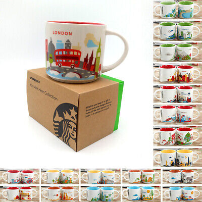 14oz Coffee Cup You Are Here Collection London Japan Paris Starbucks Mug YAH New