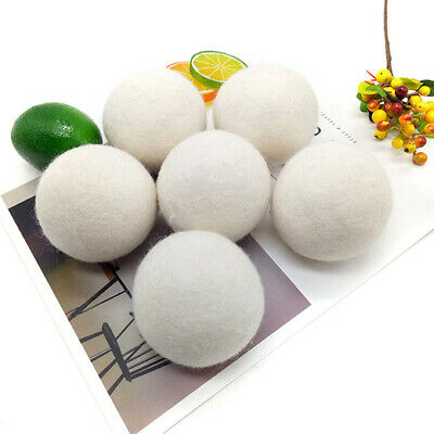 6 Pcs Wool Organic Dryer Balls Natural Hypoallergenic Reusable Reduce Wrinkles