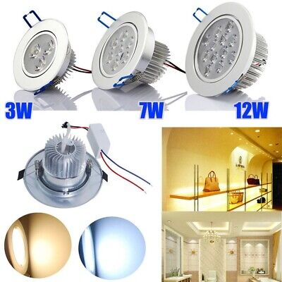 6-30x 3W 7W 12W LED Recessed Downlight Spotlights Ceiling lights Warm Day White