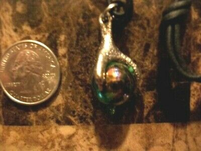 Silver Dragon Claw Holding Crystal Ball Necklace With Black Rope Chain