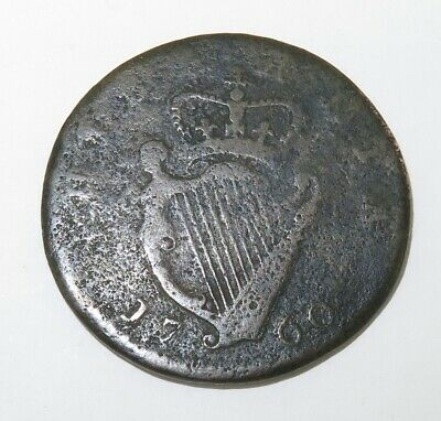 .1760 George Ii Irish Halpenny.