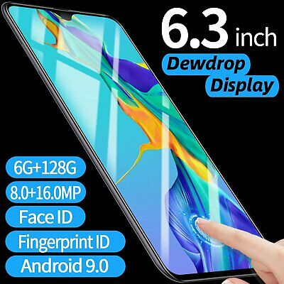 6.3'' P30 PRO Smartphone ANDROID 6GB+128GB Face Fingerprint Recognition Phone