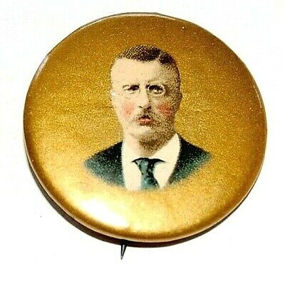 "1904 TEDDY ROOSEVELT 1.25"" theodore campaign pin pinback button badge political"