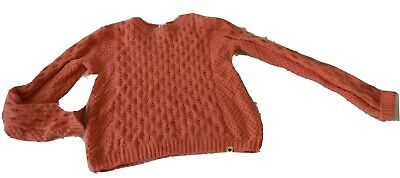 ROXY GIRL  Ladies ? size XL knitted jumper cotton nylon wool  pinky peach colour