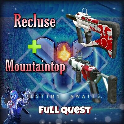 Destiny 2: The Mountaintop Full Quest + Recluse (Ready 1-2 Days ) (XBOX,Pc,ps4)