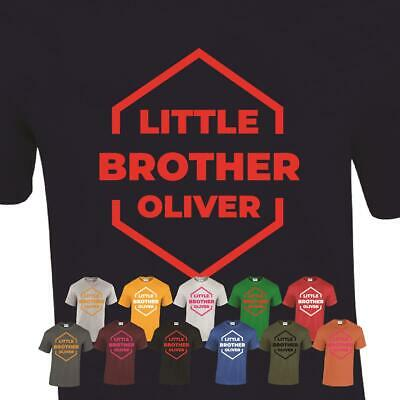 Personalised Little Brother slogan Mens siblings Funny Present Tee T-Shirt