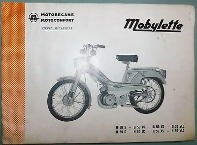 Ancien Catalogue Pieces Detachees 1974 Mobylette Motoconfort Motobecane G50 H50