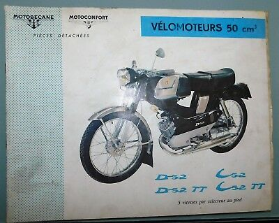 Ancien Catalogue Pieces Detachees 1964 Mobylette Motoconfort Motobecane D52 C52