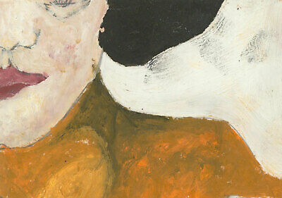 Ben Carrivick - Signed Contemporary Oil, Woman in Orange