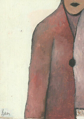 Ben Carrivick - Signed Contemporary Oil, The Pink Coat