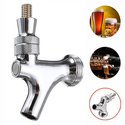 Draft Beer Chrome Faucet with Stainless Steel Connects Shank Tap Handle @B2